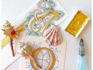 Monográfico de letras iluminadas y decoradas con Zentangle®